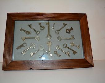 Framed Authentic Skeleton Keys