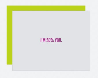 50% You - Mother's Day Card