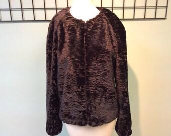 Black Persian lamb jacket