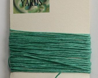 5 Yards Sage 4 ply Irish Waxed Linen Thread