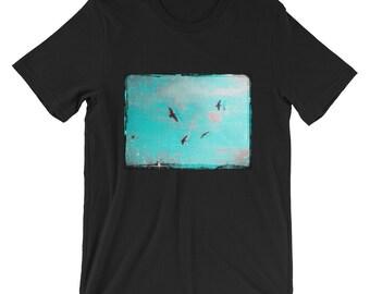 Birds Flying T-Shirt -Black, Ash