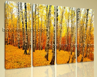 """Contemporary Home Decor Large Wall Art Canvas Print Landscape Forest Sunset Glow, Forest wall decor,  giclee print, 51""""x36"""""""
