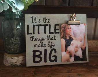 It's The Little Things That Make Life Big, Gift For Her, Christmas Gift, New Parents Gift, Birthday gift
