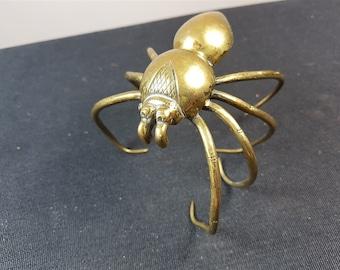 Antique Spider Figurine Sculpture Victorian 1800's Brass