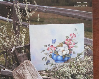 The Decorative Painter magazine  1988 June Vol XVI No 3  back issue 114 pages good used magazine