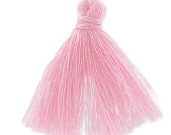30mm baby pink cotton tassel