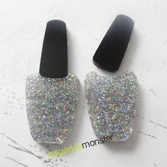 Iridescent Glitter Nail Polish cabs for deco - 2 pcs, glam, laser ...