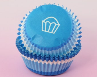 Blue Swirl Cupcake Liners 2'' Standard Size , Baking Cups