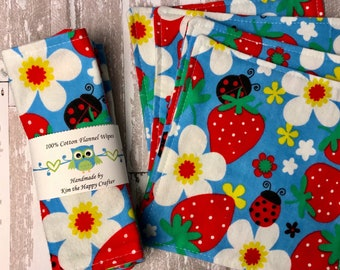 Flannel baby wipes