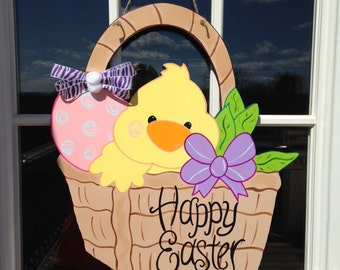 Easter door hanger, easter duck door hanger, easter door hanger, door hanger, easter decor, easter wreath