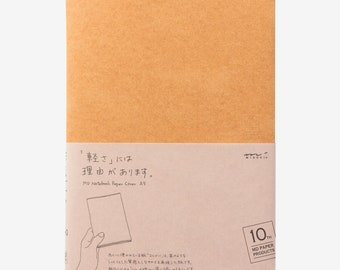 Midori MD Notebook Cover - 10th Anniversary Edition - A5 Light Brown Paper