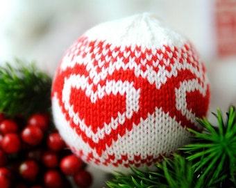Christmas tree decoration, Knit Christmas ball, Holidays decor, Christmas Ball Ornament, Unbreakable handknit ball