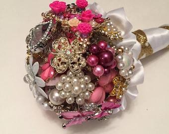 Flower Girl Bouquet/Pixie Bouquet/Small Brooch Bouquet/Flower Girl Brooch Bouquet/Small Bouquet/Brooch Bridal Bouquet/Prom Brooch Bouquet