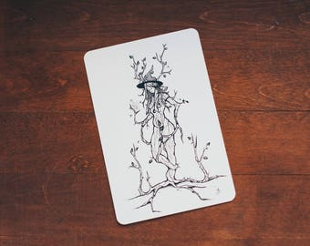 Ent Witch - card size print
