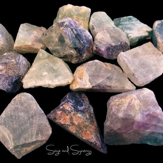 Raw Rainbow Fluorite Multi-color Mineral Crystal Healing Meditation