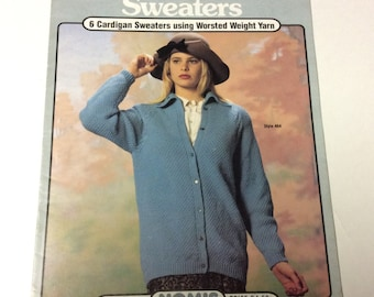 Sweater Pattern Booklet - Outerwear Sweaters by Nomis - Volume 46 - Vintage Knitting - Knitting Supplies - Sweater Patterns - Knitting