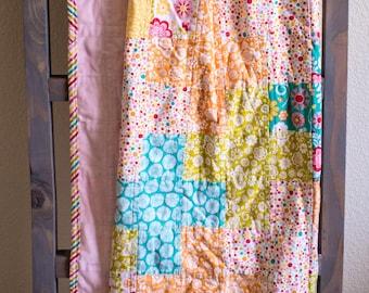 Modern Toddler Girl Plus Quilt  (Free Shipping)