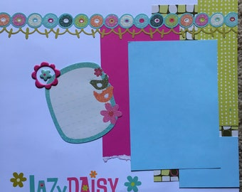 Lazy Dazy - 12 x 12 Premade Scrapbook Pages