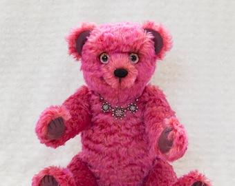Bekkiebears OOAK artist teddy bear mohair Muffles