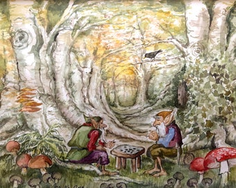 Gnomes in ancient woodland