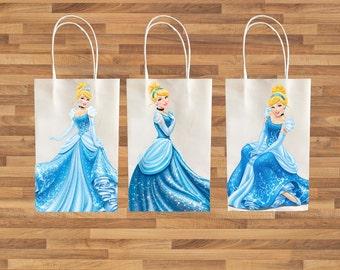 Cinderella inspired idea for kids birthday Party decoration Favor Bag PRINTABLE Instant Download easy diy activity