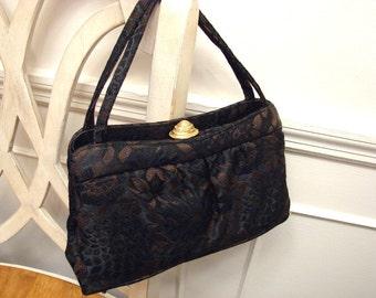 Vintage 1960's  Brocade Mini Handbag by Theodor California