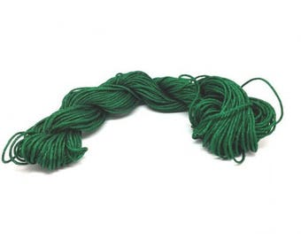 25 m wire Nylon dark green 1 mm