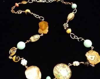 Semi-Precious Stone Multicolor Necklace