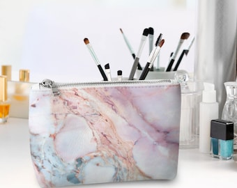 Cosmetic Bag Personalized Cosmetic Bag pencil case Marble make bag Gift for her Bridesmaid gift Hashtag makeup bag Bridal party gift CL7020