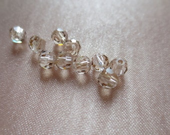25 Preciosa Crystal 4mm rounds in Champagne Honey for Bridal, Jewelry, Costume Design