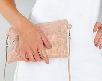 Blush Lola Mini Bag, Shoulder Bag, Cross body, Bag, Clutch Bag, Pink Leather Bag