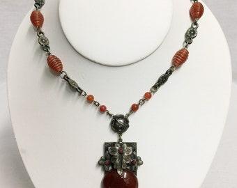 Vintage Carnelian Necklace