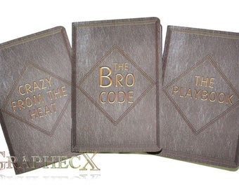 Fan-made Bro Code Playbook Crazy from the heat How I met your Mother inspired personalized journal notebook