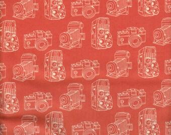 Moda Fabrics 2wenty Thr3e Cameras in Orange - Half Yard