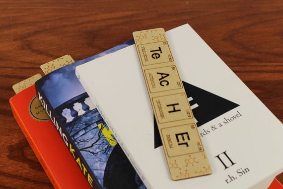 Teacher, Periodic Table of Elements, Chemistry, Wooden Bookmark,  Russian Birch, Laser engraved, Paul Szewc