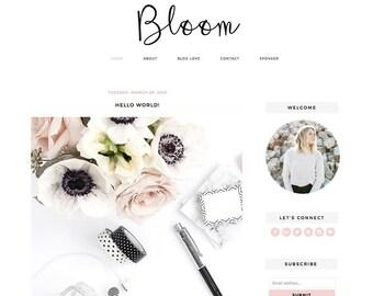 """Blogger Template Mobile Responsive - Instant Digital Download - Premade Complete Blog Design -""""Bloom"""""""