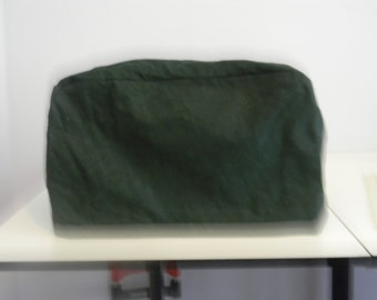 Toaster Oven Cover - Dark Green Tone on Tone Fabric