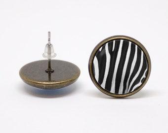 Zebra stripe Geometric earrings Zebra print earrings Zebra jewelry Zebra earrings Animal jewelry Zebra jewellery Black and white Safari Zoo