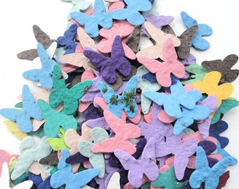 Seed Paper Butterflies diy wedding favors place cards save the date cards creative invitations qty. 100