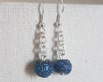 Blue/Purple Metallic Earrings