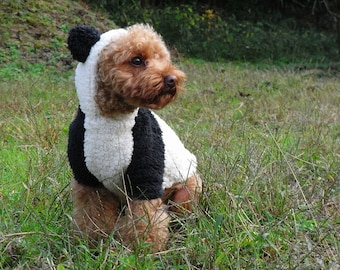 Kawaii Rabbit and Panda Costume PDF Dog Clothes Patterns and Recipe