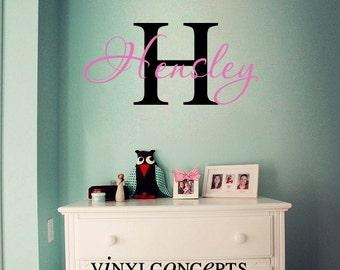 Personalize Name and Initial - Vinyl Wall Art