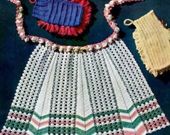 E-Pattern Crochet Crocheted Apron Pattern