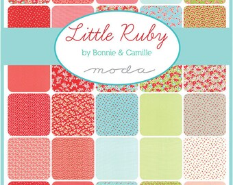 Little Ruby by Bonnie and Camille from Moda 5 x 5 Inch Charm Pack