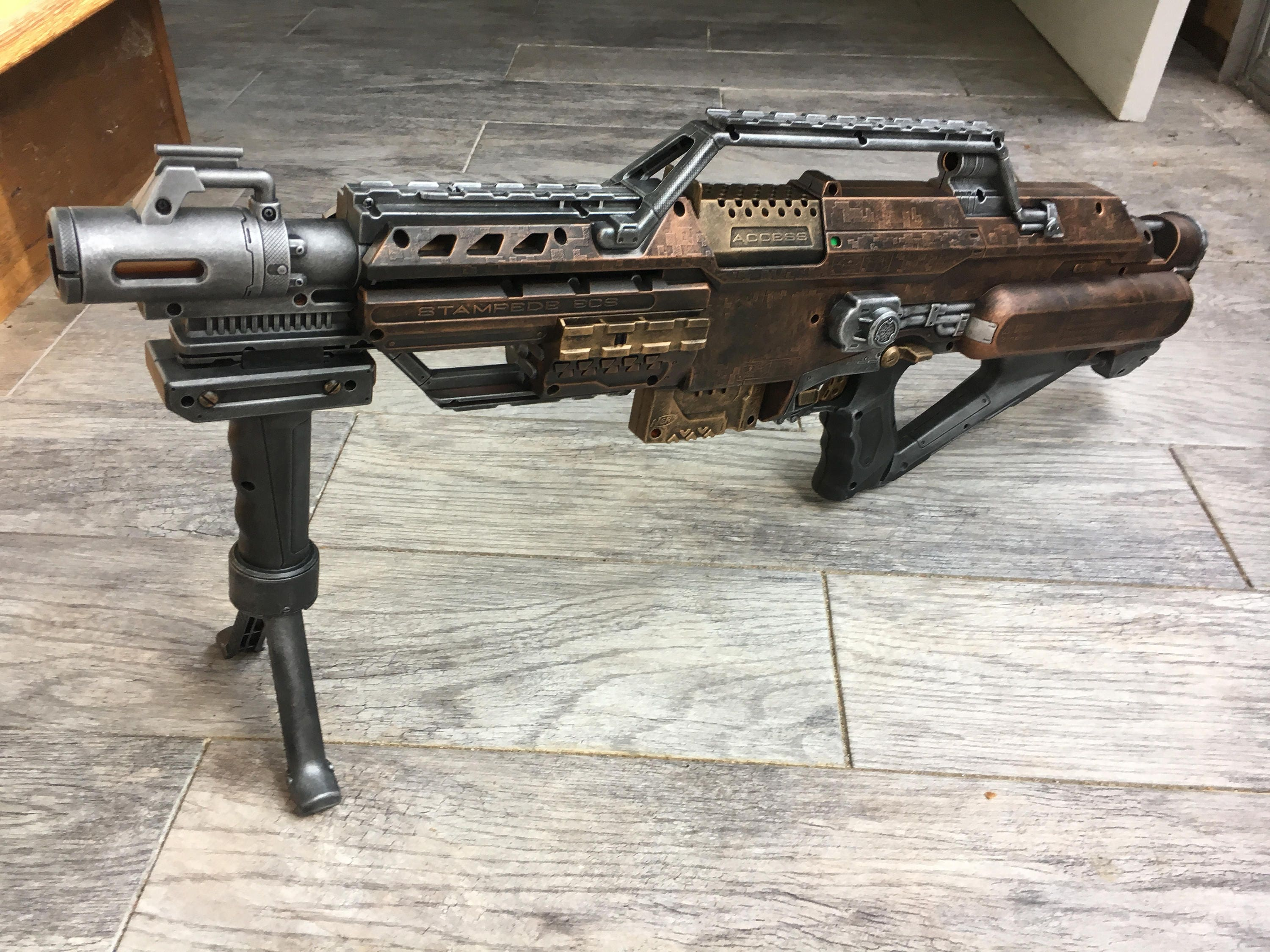 Steampunk Nerf Stampede Rifle