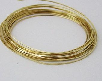Square 21GA Beadsmith Champagne Gold Color Non Tarnish  Wire 4 Yards