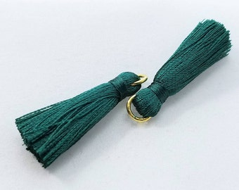5pc, Medium British Racing Green, Brunswick Green Tassel, 33x10mm - TC-0003