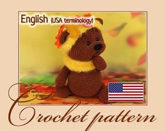 Crochet pattern - Autumn bear (Amigurumi Doll Pattern)