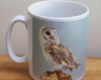 Barn Owl on Post Mug