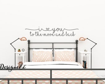 Wall Sticker -  I love you to the moon and back